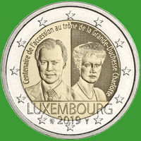 2 евро 2019 Люксембург Герцогиня Шарлотта UNC из ролла