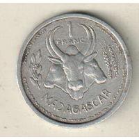 Мадагаскар 1 франк 1958