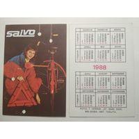 Карманный календарик . SALVO . 1988 год