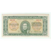 Уругвай 50 центов ,образца 1939 года,  UNC
