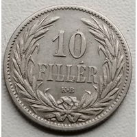 Венгрия 10 филлер 1895