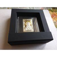 Беларусь 20 рублей икона божией матери Владимирской ( с рубля)