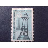 Уругвай 1968 маяк, 150 лет флоту