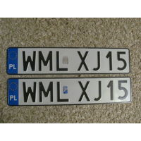 Автомобильный номер Польша WMLXJ15