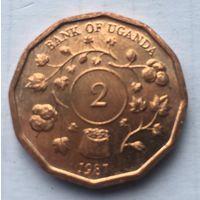 Уганда, 2 шиллинга, 1987