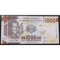 Гвинея. 1000 франков 2017 [UNC]