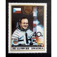 Корея 1988 г. Космос. Филателистическая выставка Прага 88, 1 марка. Чистая #0060-Ч1