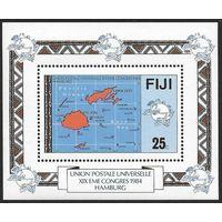 1984 Фиджи 503/B5 ВПС / Карта Фиджи