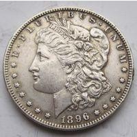 США, доллар, 1896, серебро
