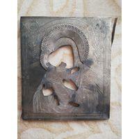 Оклад от иконы Владимирская Пресвятая Богородица. Оклад серебро 84