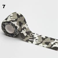 Камуфляжная маскировочная лента многоразовая бинт эластичный Камуфляж 8 видов расцветки