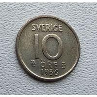 Швеция 10 эре, 1956 2-1-55