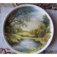 Настенная тарелка. Ручная роспись