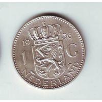 Нидерланды. 1 гульден 1956 г. ( серебро)