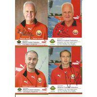 Лот больших карточек(42шт.) с автографами игроков и тренеров Национальной сборной Беларуси.2008г.