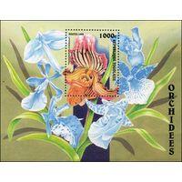 Орхидеи Того 1999 год 1 блок