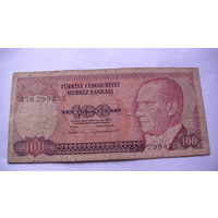 ТУРЦИЯ 100 лир 1984 года. 26299435 распродажа