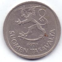 Финляндия, 1 марка 1970 года. S.