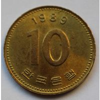 Южная Корея 10 вон, 1989 г.