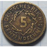 Германия 5 рентенпфеннигов, 1923    A       ( 6-5-4 )