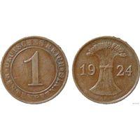 YS: Германия, 1 рентенпфенниг 1924F, KM# 30 (1)