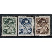Индонезия /1951/ Спорт / Азиатские Олимпийские Игры / Символы Олимпиады / Michel #68,69,71 / 3 ЧИСТЫХ Марки