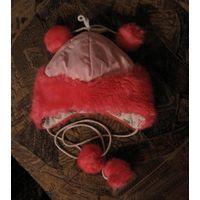 Зимняя шапка для девочки на 3-4 года