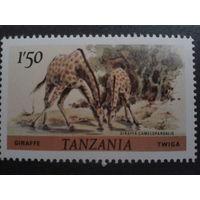 Танзания 1980 жираф
