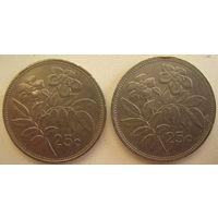 Мальта 25 центов 1986 г. Цена за 1 шт. (gl)