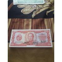 УРУГВАЙ 100 песо 1967 год