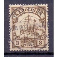 Германия Каролинские о-ва 3 пф 0Wz ГАШ 1900 г