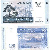 Мадагаскар - 100 ариари (500 франков) - 2004 ПРЕСС из пачки UNC