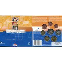 Нидерланды 2004 Официальный Годовой набор Евро 8 монет UNC