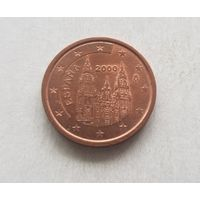 2 евроцента 2000 Испания