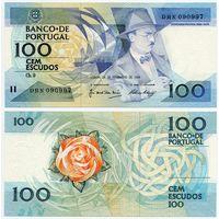 Португалия. 100 эскудо (образца 24.11.1988 года, P179f, подпись 2, UNC)