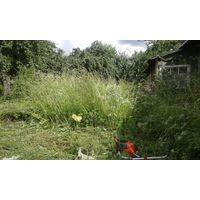 Косьба травы триммером