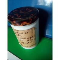 Старинный фарфоровый аптечный штангласс с оригинальным рецептом на латыни и содержимым.Начало XX-го века.