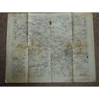 Оригинальная немецкая карта по ПМВ Брест-Литовск 1911г