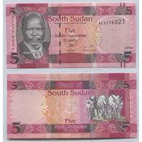 Распродажа коллекции. Южный Судан. 5 фунтов 2015 года (P-11 - 2015-2019 Issue)