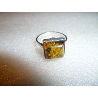 Без МЦ! Антикварный серебряный перстень с янтарём, довоенная Германия, Кенигсберг
