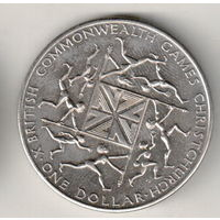Новая Зеландия 1 доллар 1974 X Британские Игры Содружества