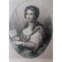 MME DE WARENS   . Старинная гравюра ПАРИЖ 1860 год. оригинал 27 х18 см.