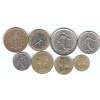 Франция набор 8 монет