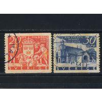 Швеция 1938 300 лет основания шведскими эмигрантами Новой Швеции (Делавер,США).Высадка Кирха в Уилмингтоне #247-8