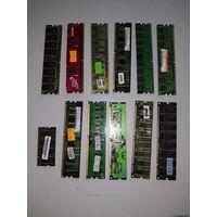 SDRAM, DDR1, DDR2 на лом, в коллекцию и т.д. 12 шт. одним лотом.