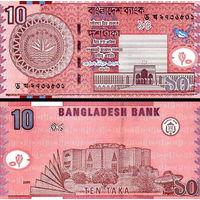 Бангладеш  10 така   2010 год   UNC