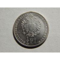 Австро-Венгрия 1/4 флорина 1861г