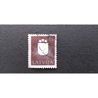 Марка Латвия 1991 год. Герб