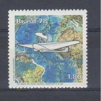 [526] Бразилия 1978.Авиация.Самолет.Перелет.