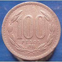 100 песо 1981 Чили КМ# 226.1 алюминиевая бронза